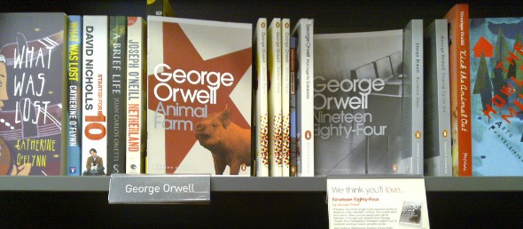 Books by Orwell, photo by markhillary